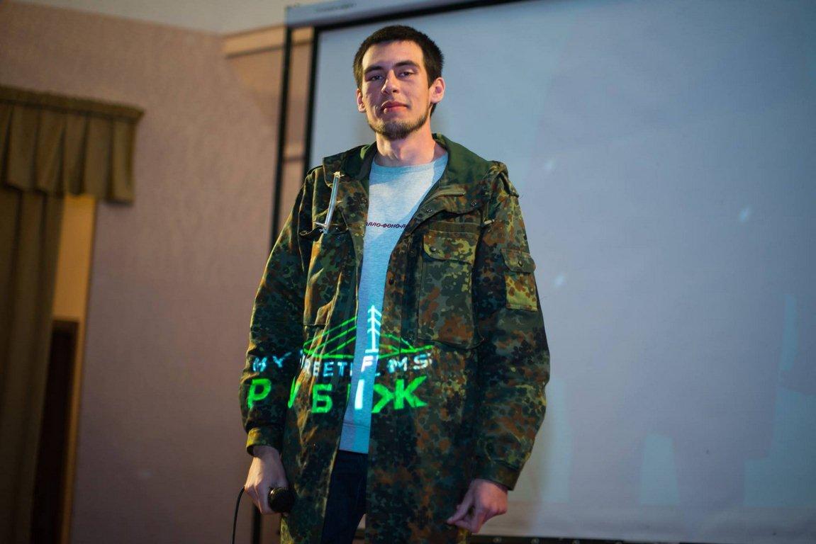 Євген Королєтов під час презентації фільму «Сєвєродонецьк» на фестивалі «86», 2017 рік.
