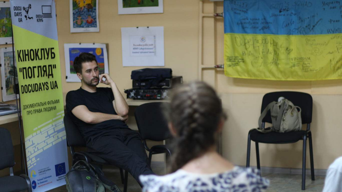 Юрій Шилов у медіа-центрі «Сіверський Донець», Сєвєродонецьк, 2016 рік.